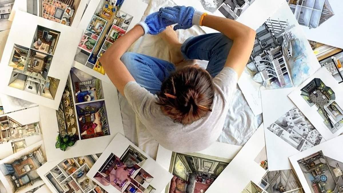 Архітекторка створює реалістичні ілюстрації помешкань з кіно: фото