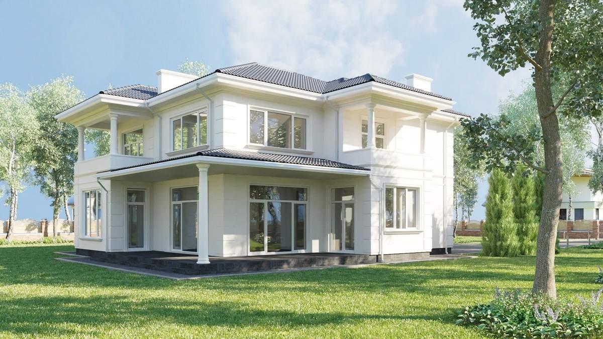 Оформление фасада загородного дома – популярные стили: фото