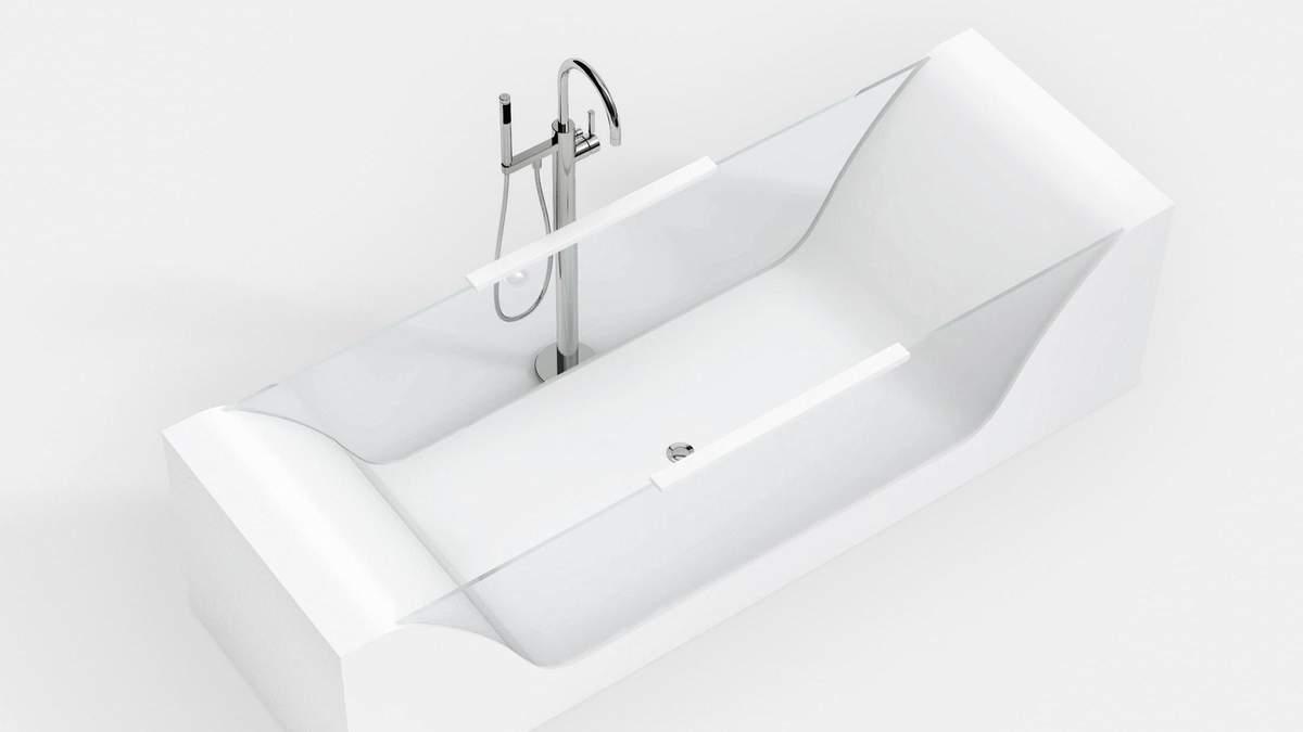 Скляна ванна – плюси і варіанти прозорих ванн