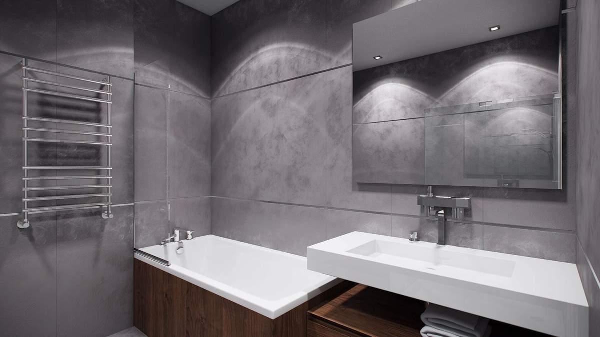 Дизайн ванної в сірих тонах – фото інтер'єру, поради