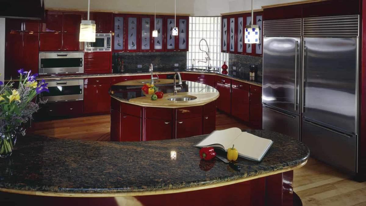 Дизайн кухні червоного кольору 2019 – фото, варіанти інтер'єру