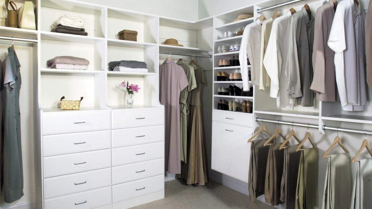 Гардеробна кімната – дизайн інтер'єру, фото підбірки
