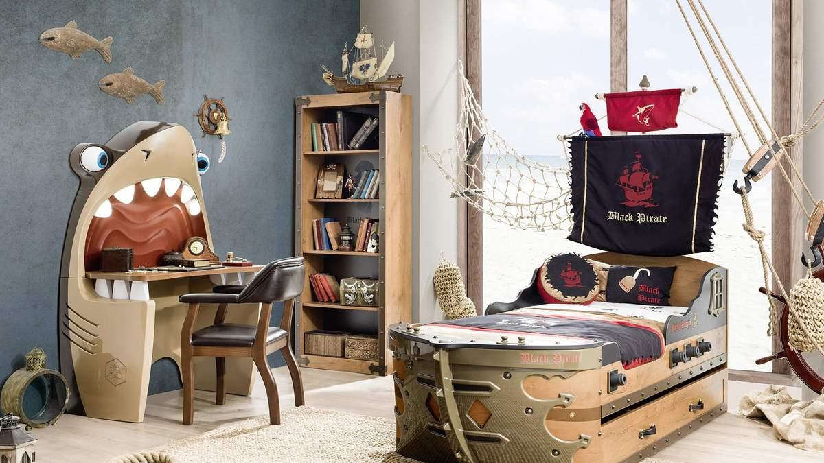 Дизайн дитячої кімнати для хлопчика з фото – космос, класика