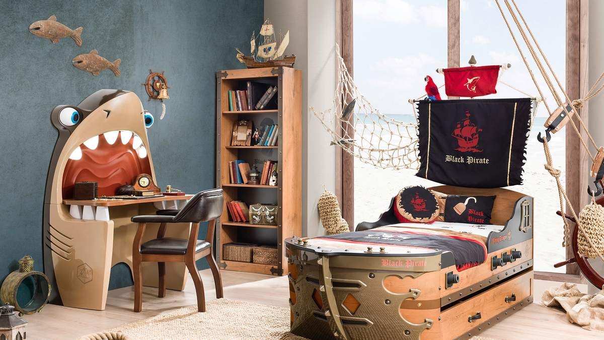 Дизайн детской комнаты для мальчика с фото – космос, классика