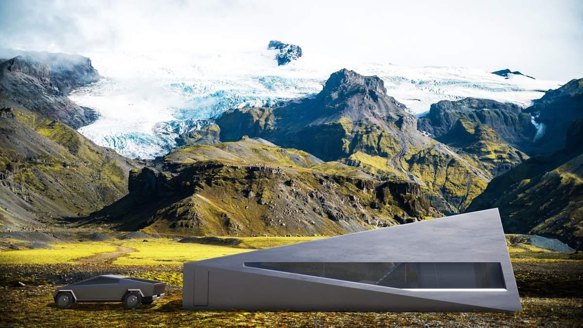 Дизайн гаража для Cybertruck: фото футуристического здания