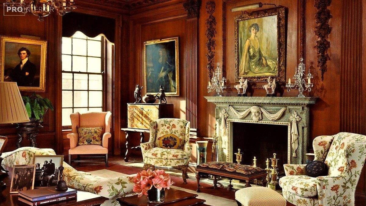 Вітальня в вікторіанському стилі – інтер'єр вітальні