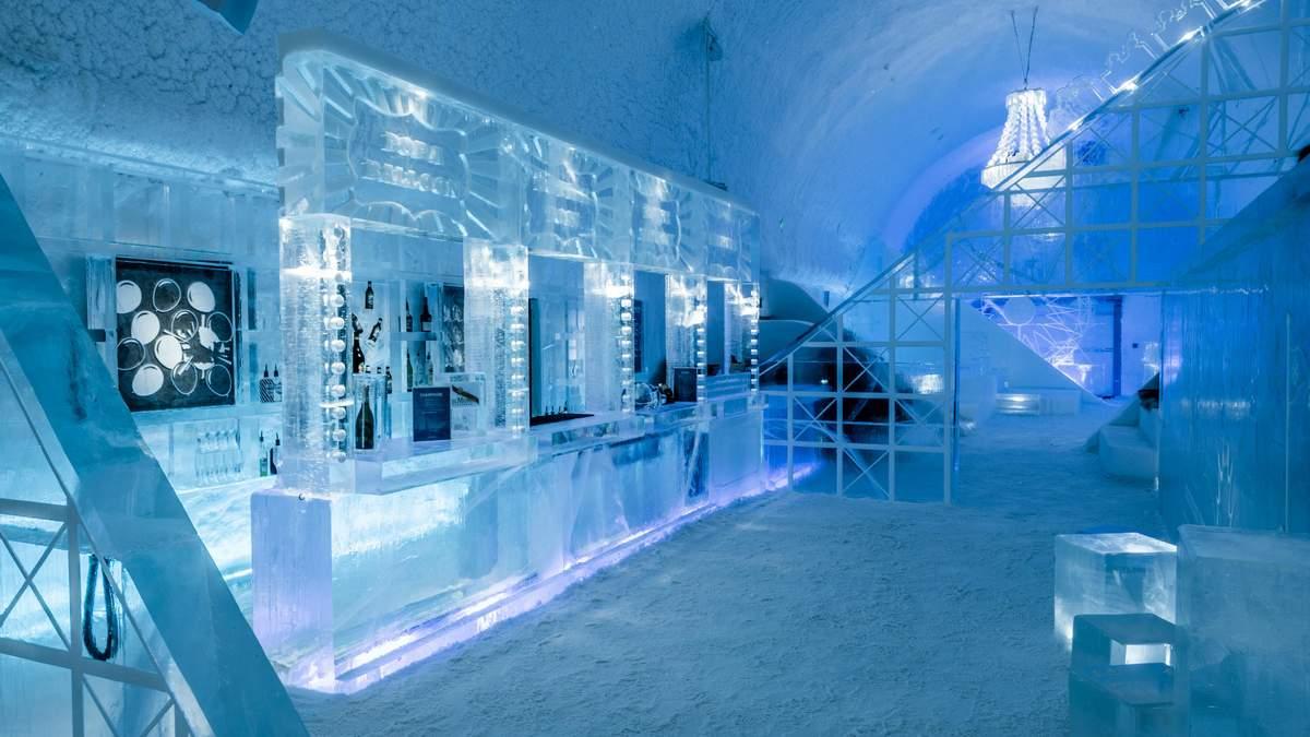 Ледяной отель приглашает на ночевку – фото номеров из сплошного льда
