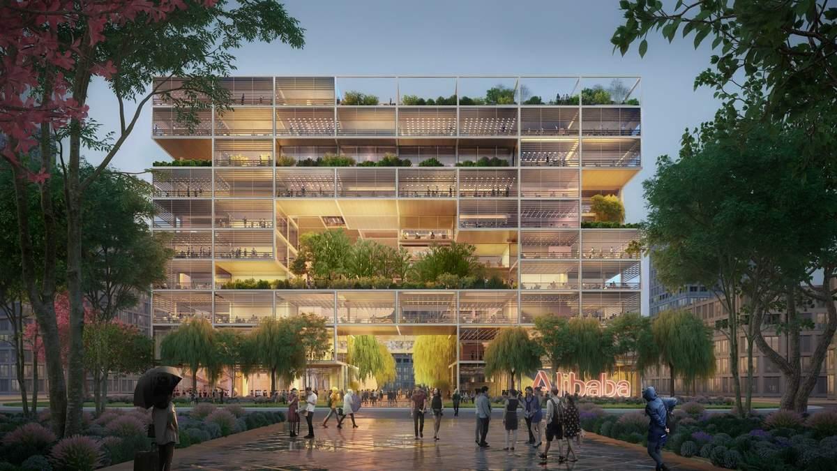 У Alibaba будет новая штаб-квартира: фото футуристического здания