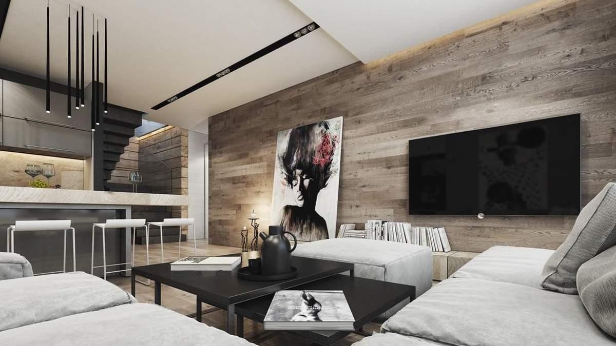 Ламинат на стене в интерьере – фото: плюсы и минусы