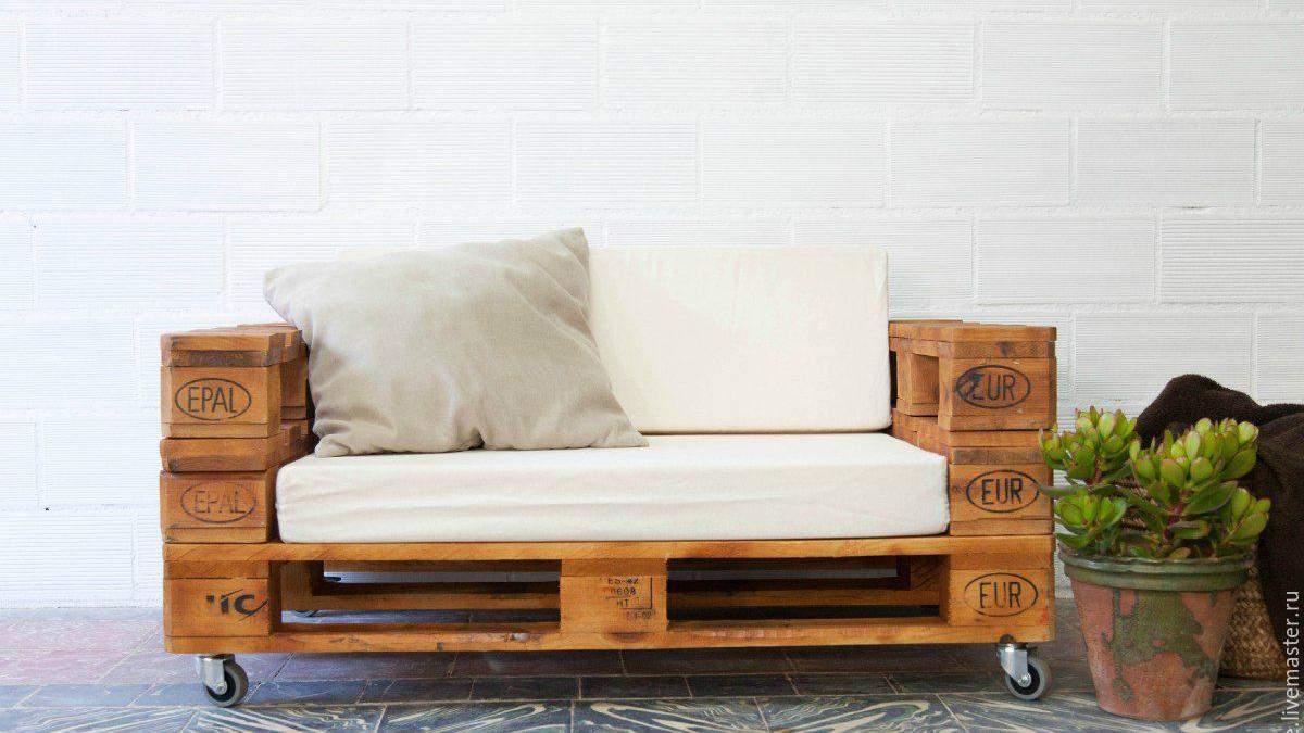 Как сделать мебель из деревянных поддонов – инструкция, фото