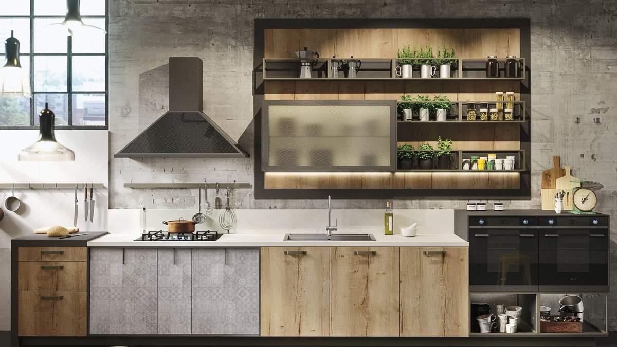 Кухня з відкритими полицями – особливості дизайну, плюси, мінуси