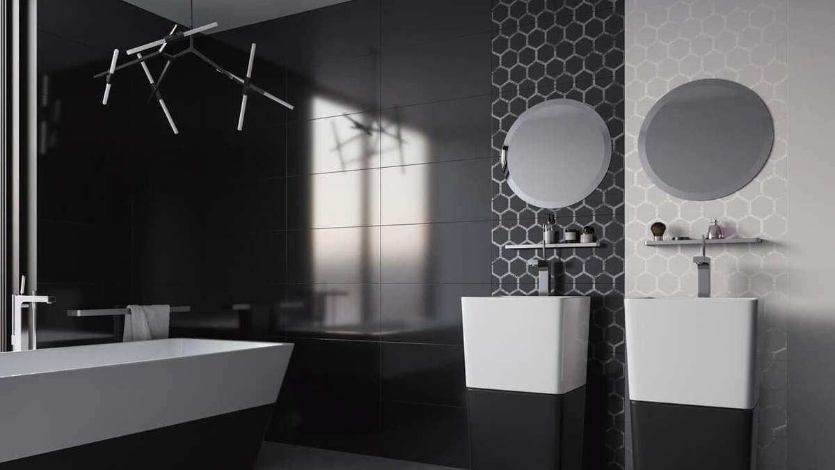 Ванна в чорному кольорі – особливості дизайну, стилі для чорної ванній