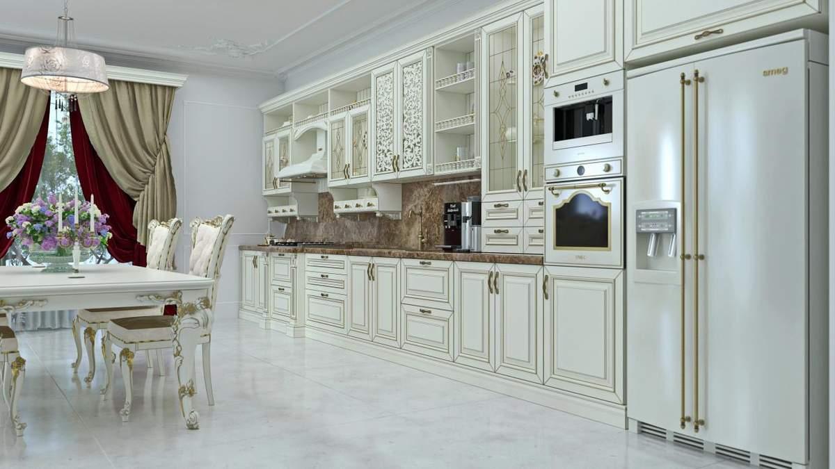 Дизайн кухни – классический стиль – особенности, декор, элементы