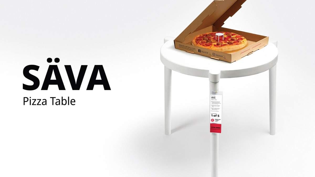 IKEA та Pizza Hut разом створили ідеальний столик для піци – фото