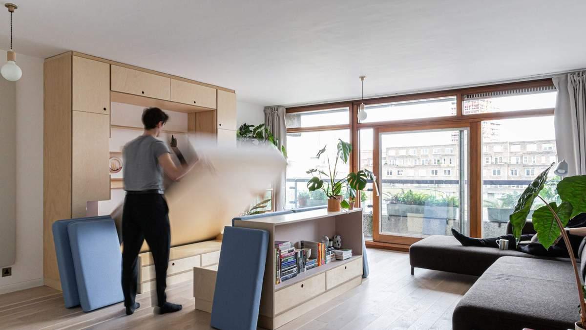 Как креативно решить проблему маленькой квартиры: пример из Лондона – фото