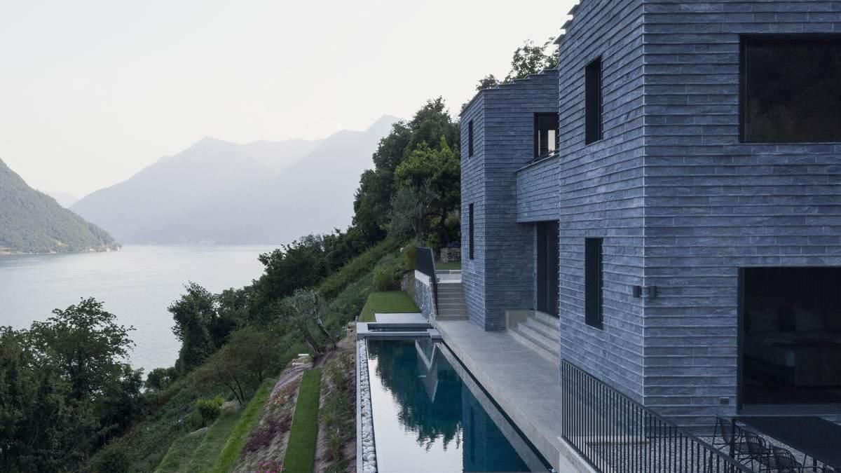 Самоизоляция по-итальянски: дизайн коттеджа на склоне озера Комо