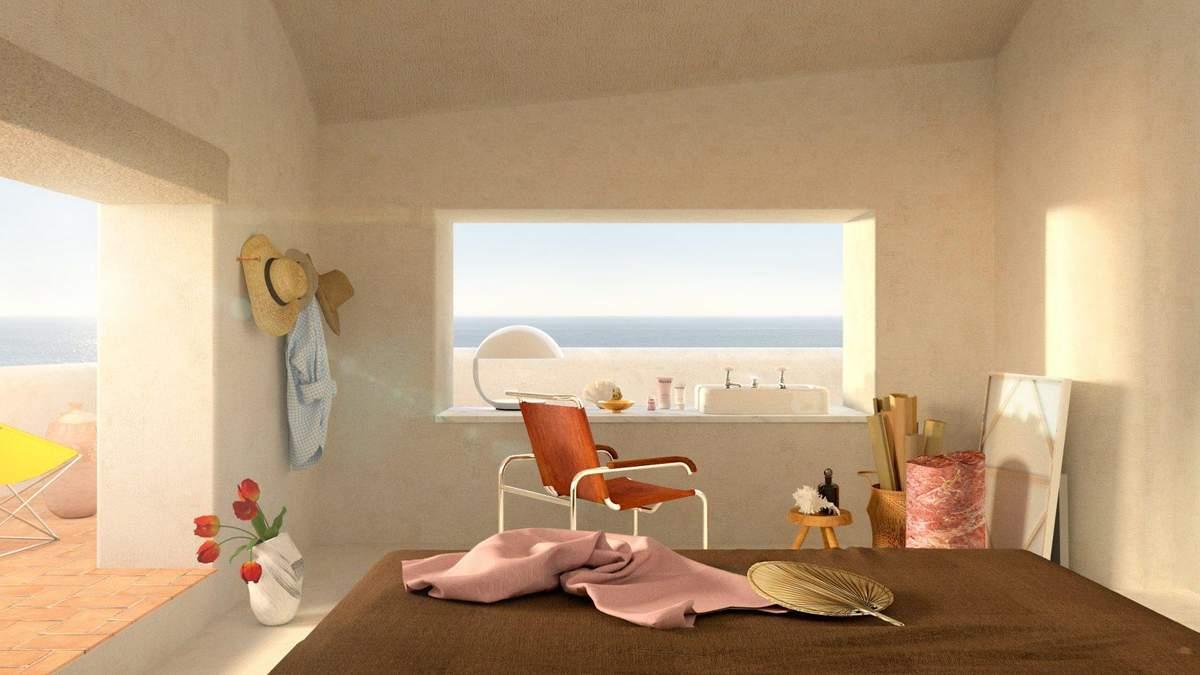 Під час карантину дизайнер від нудьги спроєктував інтер'єр будинку на березі моря – фото