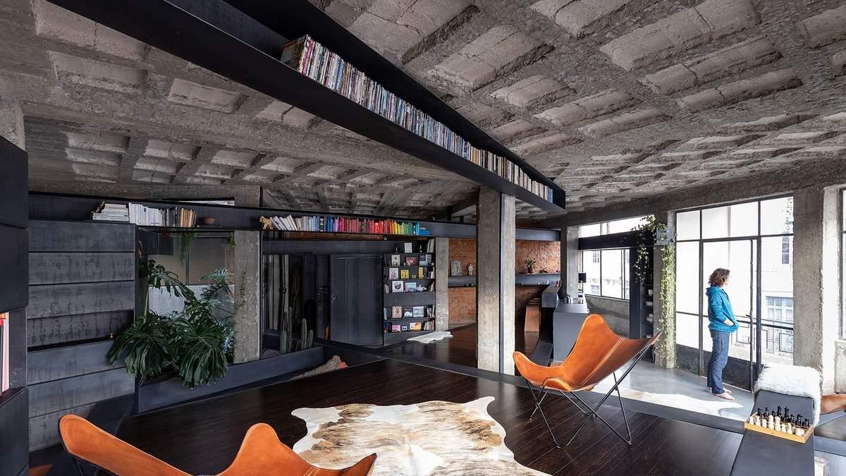 Эстетика бетона: пример квартиры в индустриальном стиле – фото из Эквадора