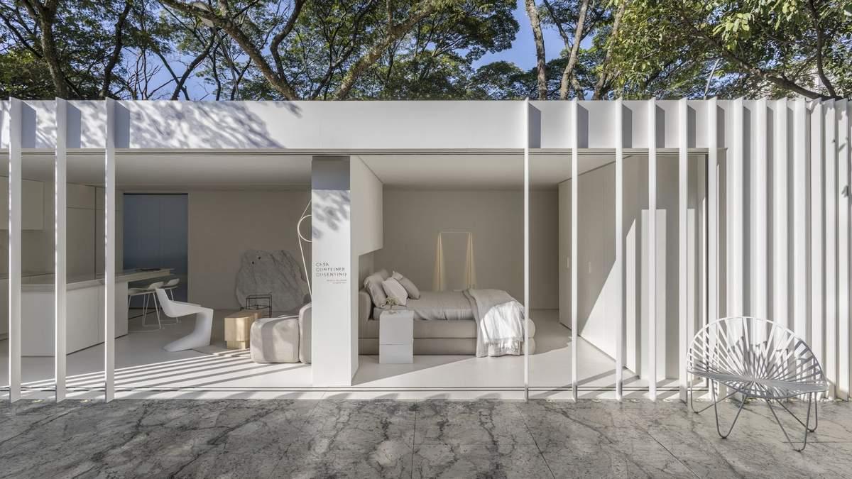 Мраморный дизайн в доме из контейнера: впечатляющие фото из Бразилии