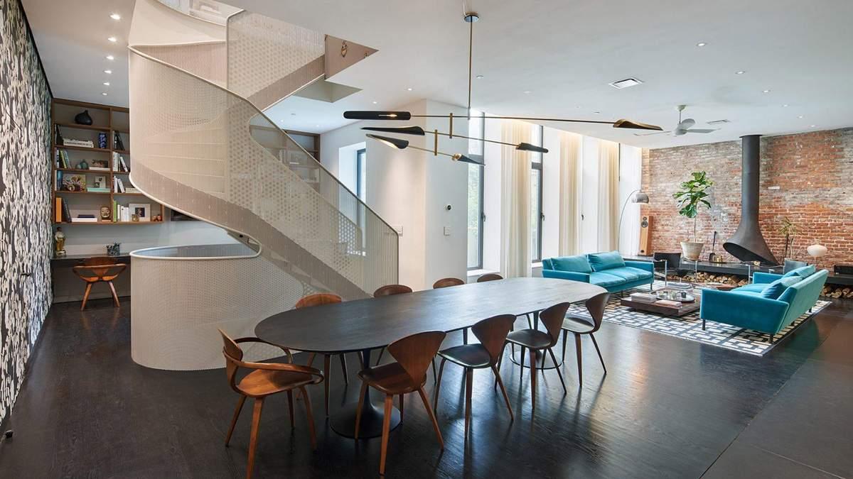 Бджоли на стінах – дизайн інтер'єру триповерхової квартири у Нью-Йорку