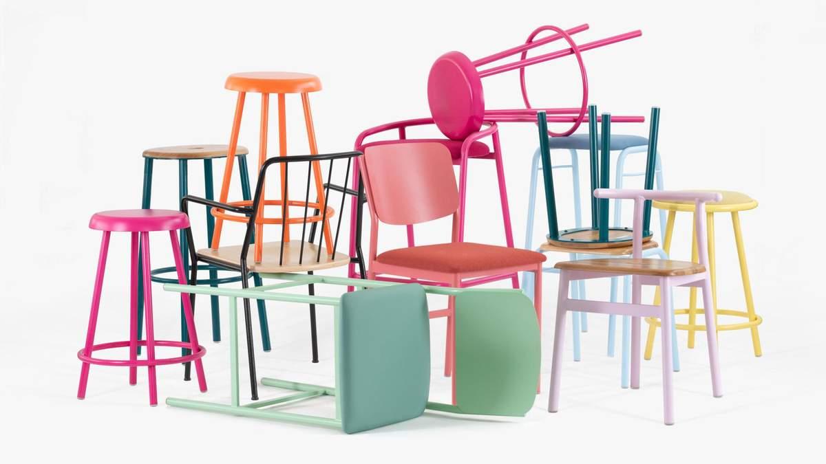 200 цветов: в Канаде представили коллекцию кухонной мебели из гнутого металла – фото