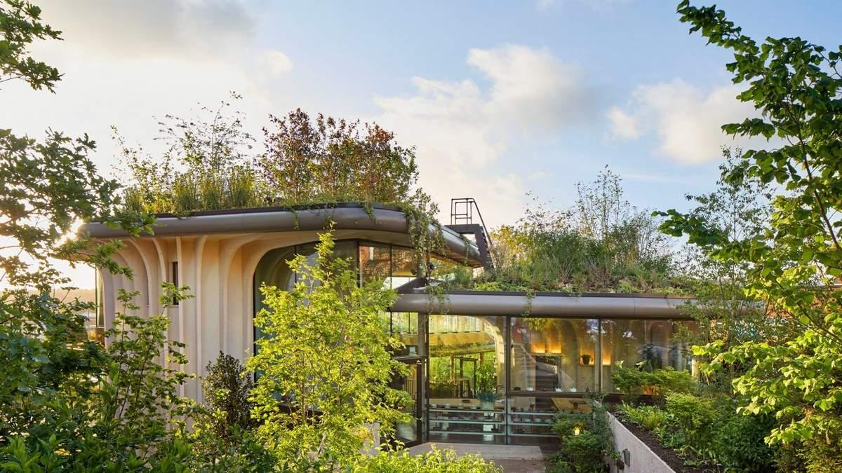 Зеленое здание: деревянный интерьер онкологической больницы в Великобритании – фото