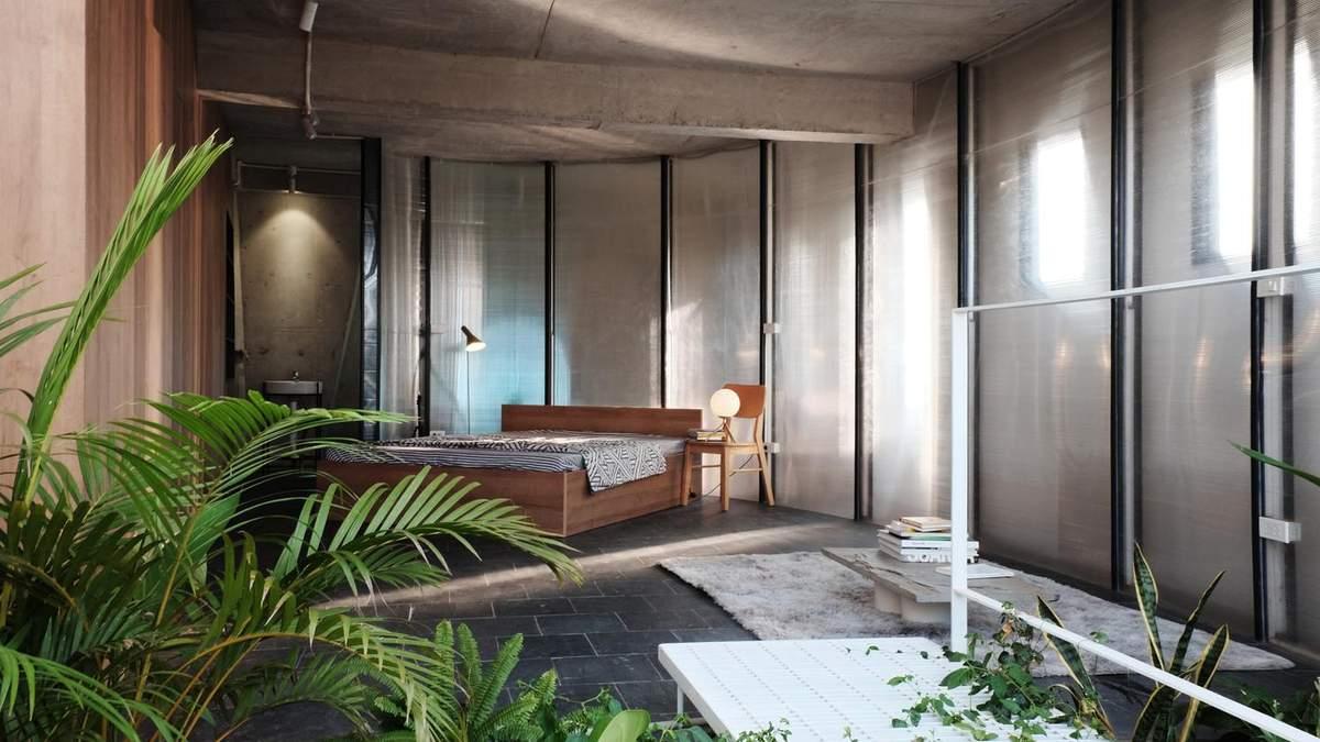 Поликарбонат и бетон в дизайне: пример необычного сочетания материалов в интерьере – фото