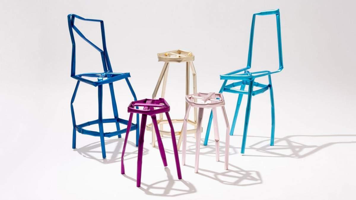 Мятая мебель: фото погнутых и кривых стульев от дизайнера из Южной Кореи