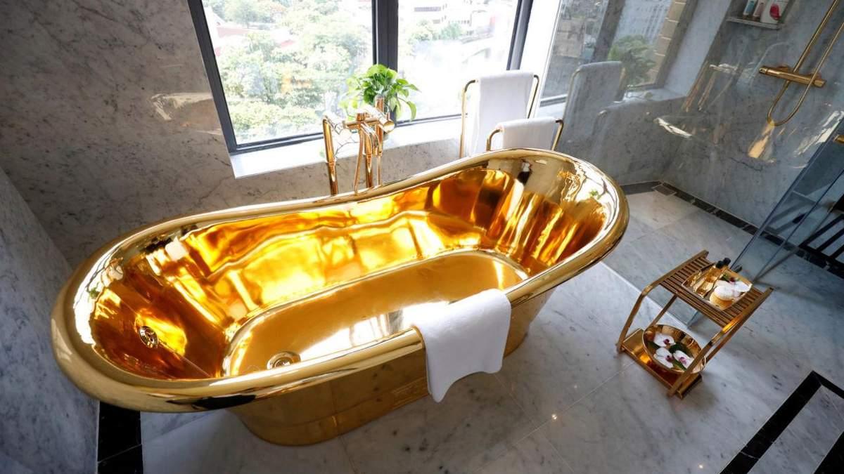 У готелі із золота навіть сантехніка