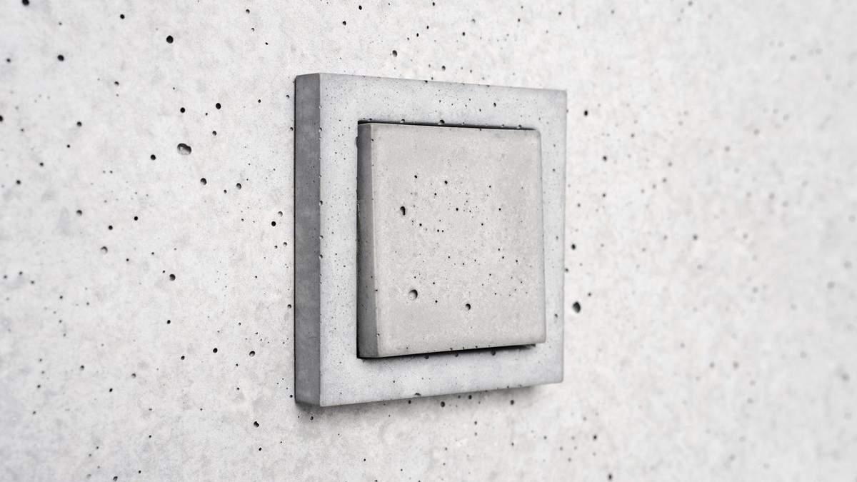 Альтернатива пластику: дизайнерська студія створила вимикачі та розетки з бетону – фото