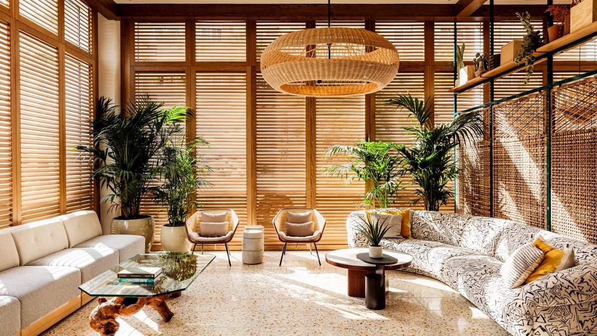 Интерьеры в отеле являются образцовыми для эпохи модернизма