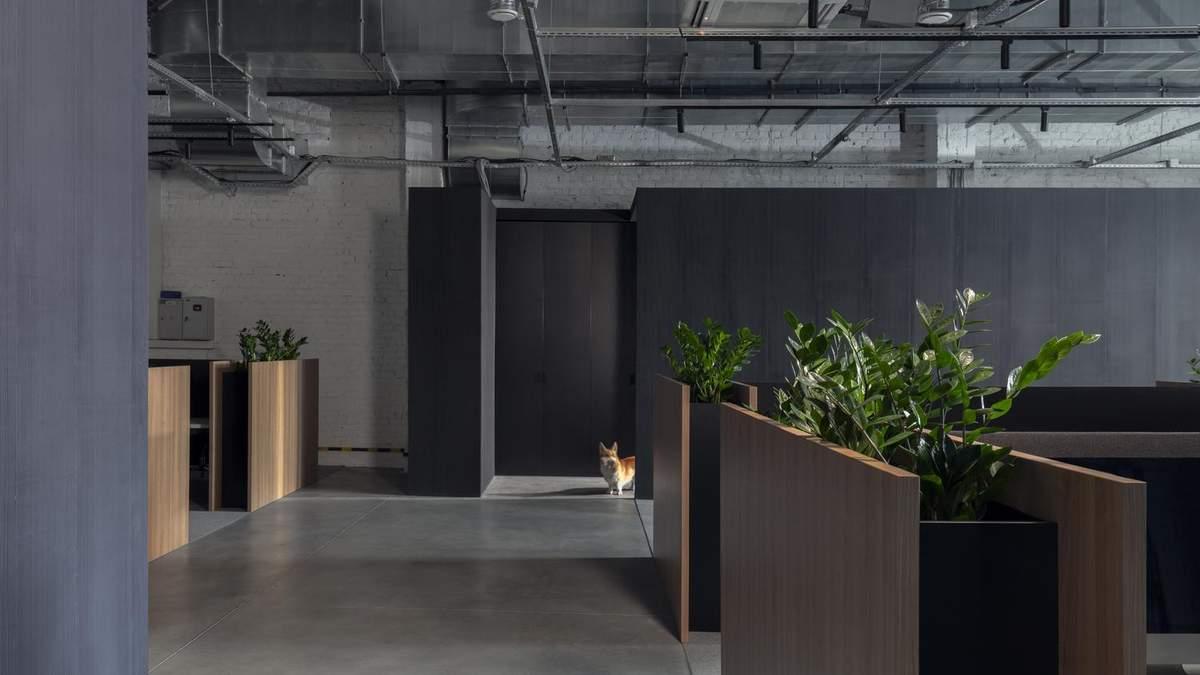 Поважаючи приватність – у Мінську презентували проєкт офісу у темних тонах: фото