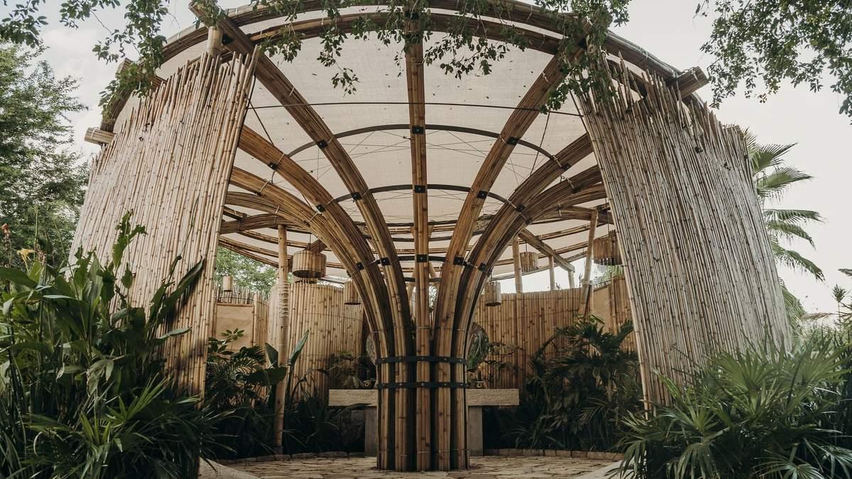 В Мексиці відкрили громадський туалет з бамбука: фото споруди