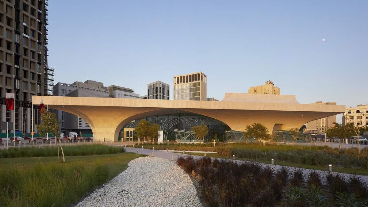 В виде корабля: в Катаре показали дизайн первых станций сверхсовременного метро – фото
