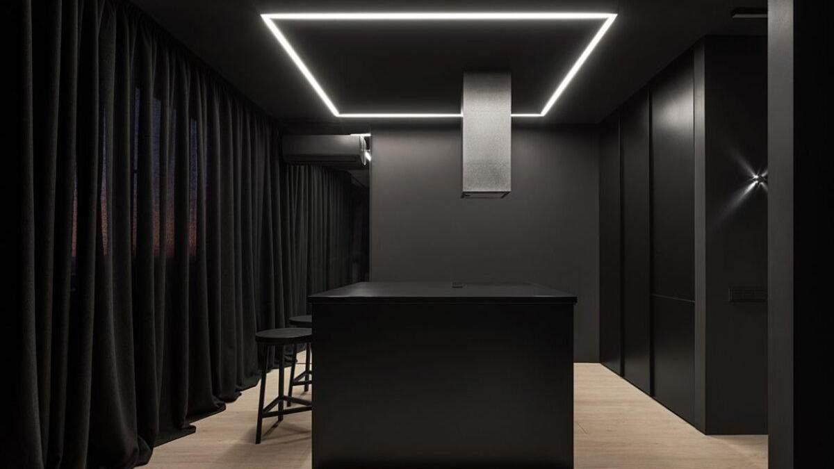 Как выглядит полностью черная квартира в Киеве: фото необычного дизайна