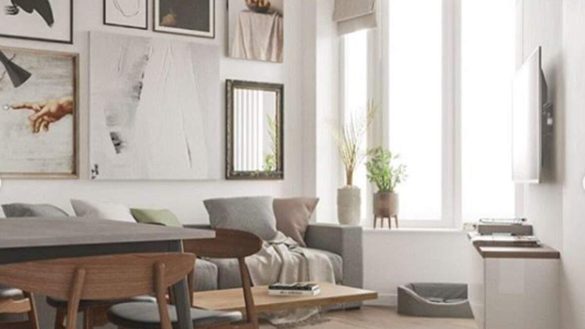 Вікно між кімнатами та стіл у повітрі: як виглядає квартира в Києві з незвичним дизайном – фото