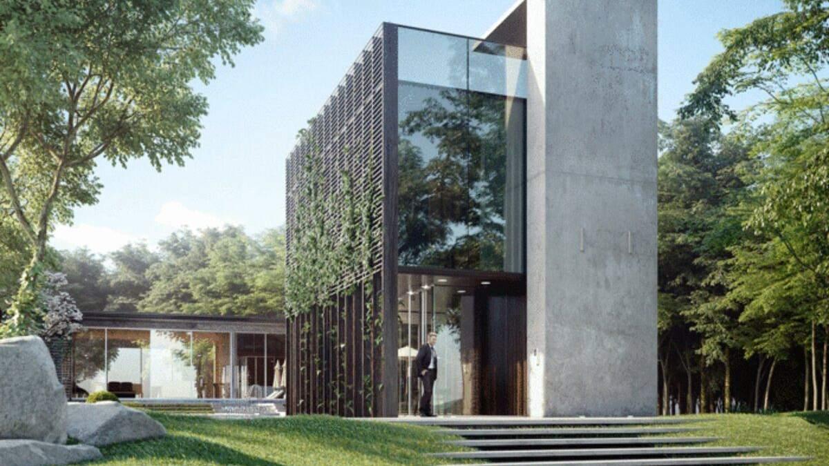 В горах у бассейна: современный дизайн летней резиденции в Карпатах – фото