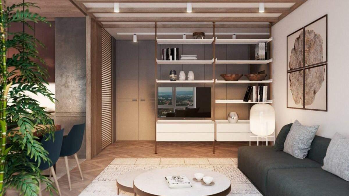 Лес в центре Днепра: фото интерьера элегантной квартиры от украинских архитекторов