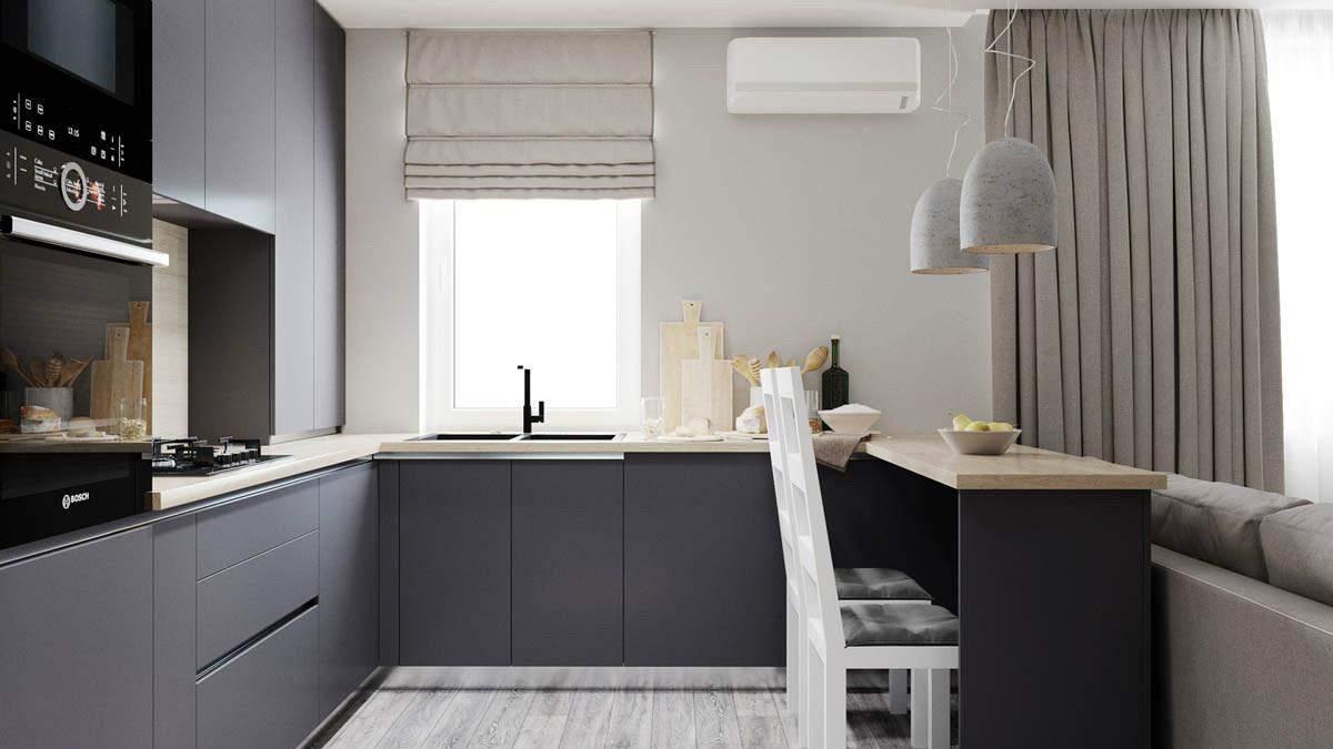 Існує великий вибір відтінків матових кухонь