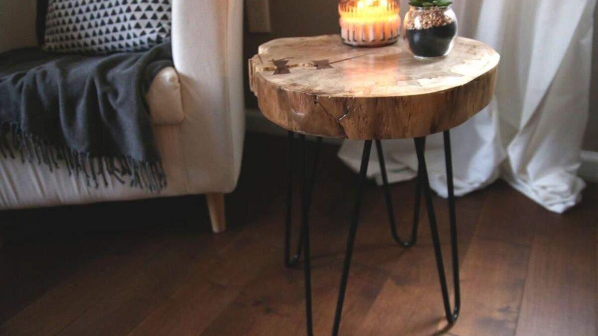 В моде мебель из натуральных материалов