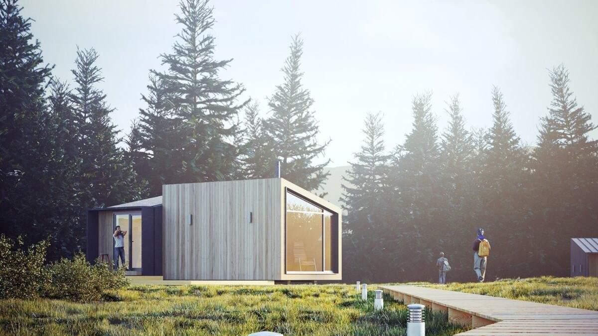 Модульний будинок в лісі