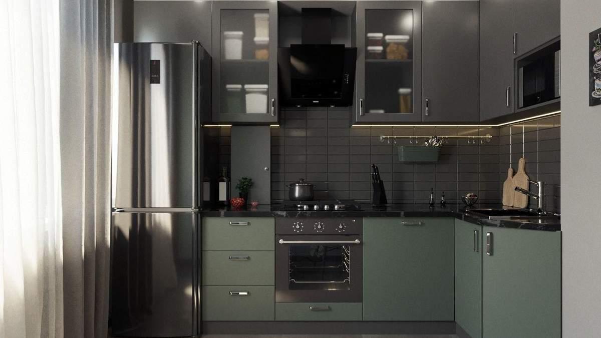 Стильная кухня с матовыми фасадами