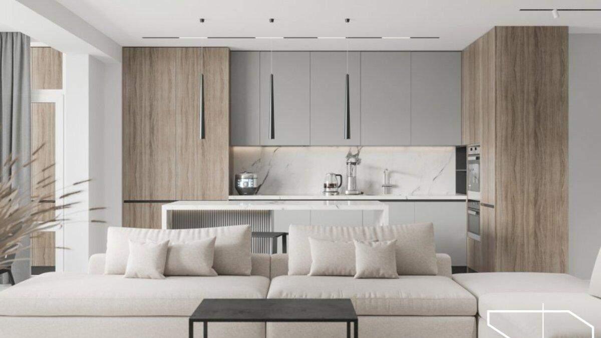 Минимализм и открытое пространство: фото интерьера современной квартиры в Чернигове