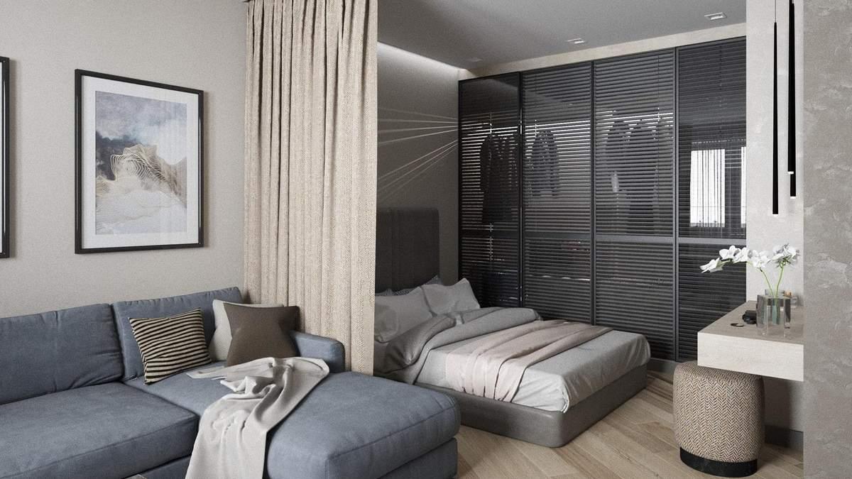 Тренды дизайна однокомнатной квартиры на 2021: ТОП 25 идей интерьера с фото
