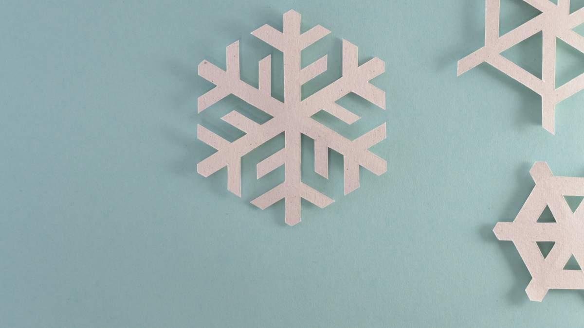 Як зробити сніжинки з паперу