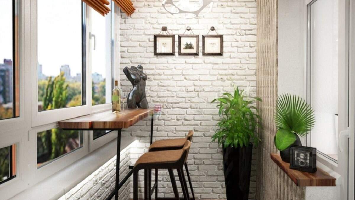 Балкон у стилі лофт