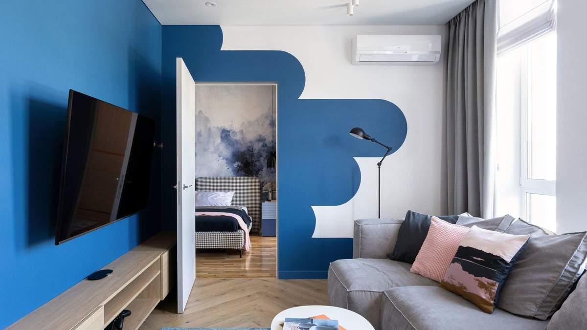 Все в хмарах і яскраві кольори: як виглядає квартира в Києві для сім'ї з дитиною – фото