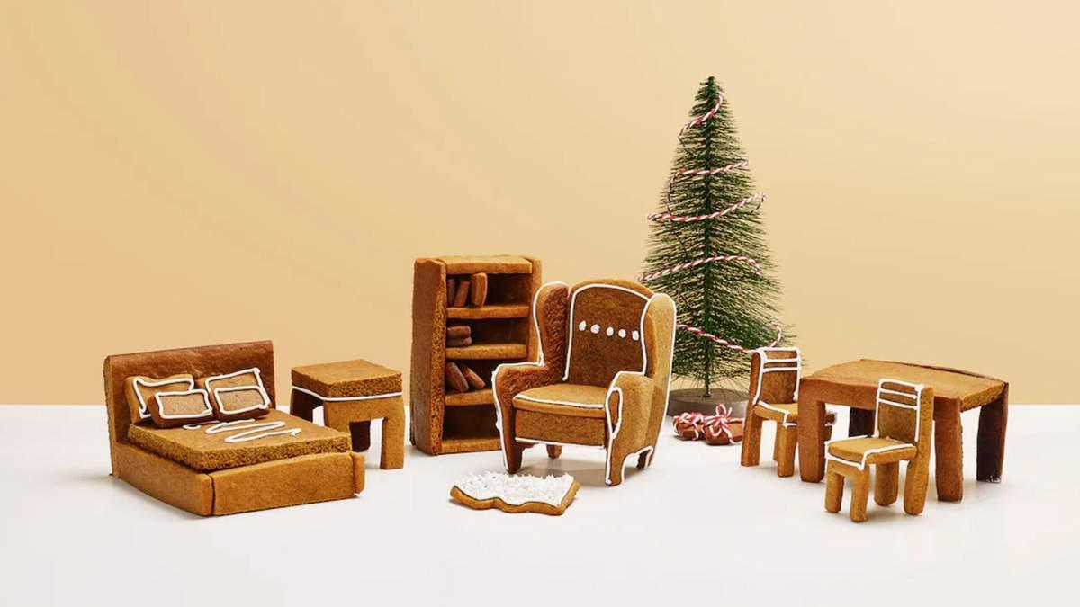 Меблі з імбирних пряників: IKEA випустила оригінальний різдвяний набір