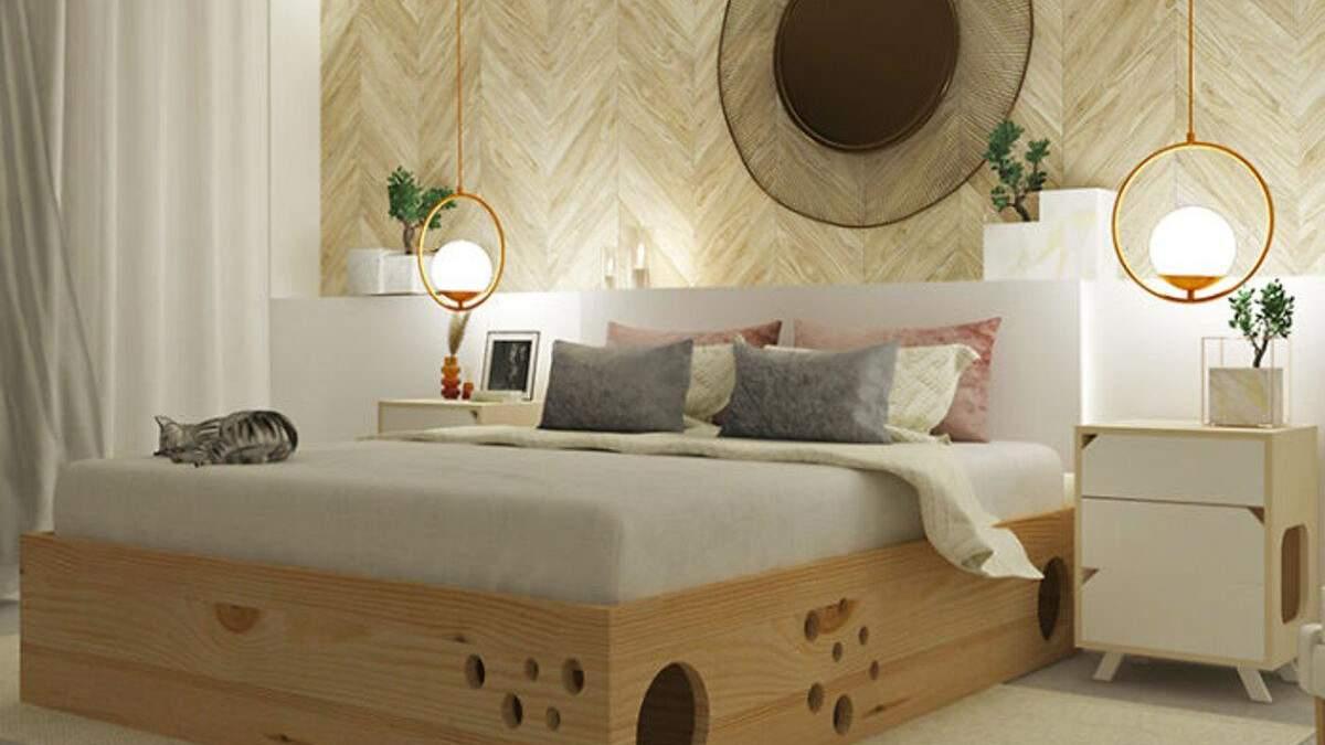Ідеальне ліжко для власників котів: фото оригінальних меблів