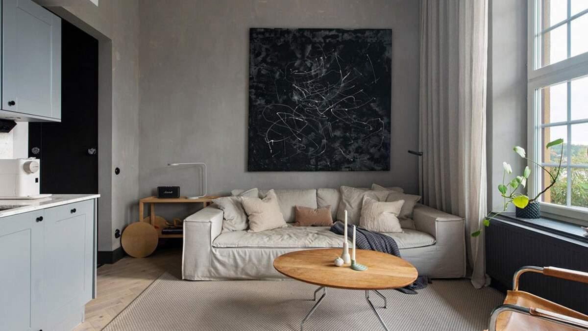 Квартира-студия в стиле лофт: фото современного интерьера из Швеции